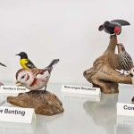 Carved Bird Display - Snow Bunting