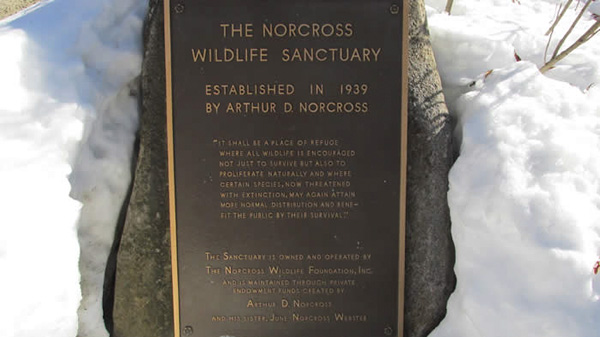 Norcross Wildlife Sanctuary - Welcome Plaque
