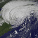 a hurricane over the northeast