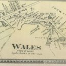 Old Map of Wales, MA